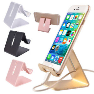 Mobile Phone Holder For iPhone Stand Desk Tablet Metal Stand Desktop For ipad @