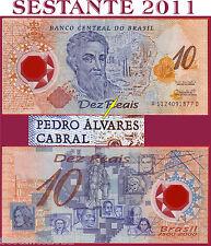 "BRAZIL  BRASILE  - 10 REAIS  2000  ""ALVARES"" Scarce - Polymer   P 248b  - SPL/XF"