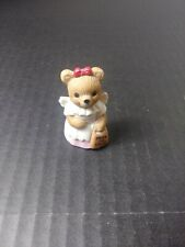 Homco Porcelain Bear Figurine - #5209 - Halloween Girl with Trick or Treat Bag