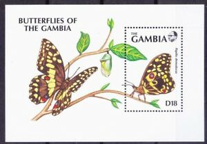 Gambia 1991 MNH MS, Citrus swallowtail, Christmas butterflies, Insects