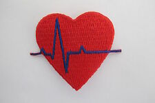 "2"" EKG Heart Medical Nurse Embroidery Iron On Appliqué Patch-#5109"