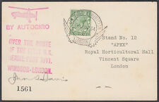1934 Air Post Exhibition London SHS; Windsor-London; APEX; Signed; Autogiro