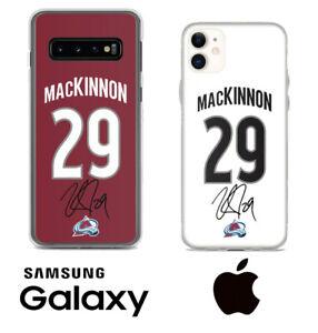 Nathan Mackinnon Colorado Avalanche Samsung iPhone Jersey Phone Case Autograph