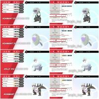 Pokemon Sword Shield ALL 4 SHINY fossil 6iv pokemon battle ready ev trained