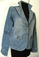 "Blazer di jeans giacca donna denim jacket M 42 UK 10 12 ""GATE SIX"" Seconda mano"