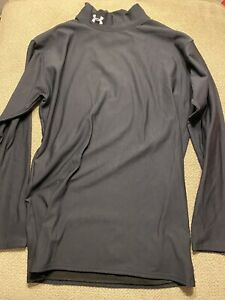 Men's Under Armour Cold Gear Compression Long Sleeve Shirt Black XL