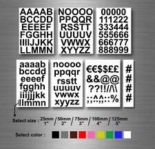 Alfabeto A-Z Pegatinas blanco Letras en Rosa Neón 10 mm Cuadrado Pegatinas-RCL7965