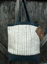 threads with a soul Handcrafted SPUN Silk Canvas Stitched Detailing Shoulder Bag
