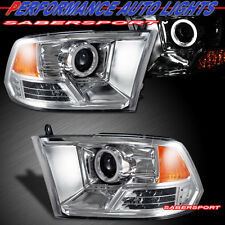2009-2012 DODGE RAM 1500 CCFL HALO PROJECTOR HEADLIGHTS w/ LED SIGNAL PAIR