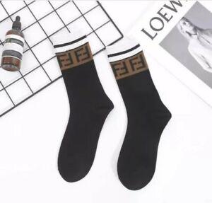 FF Designer Inspired Socks Black and Brown