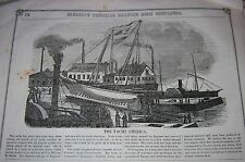 Original Historic 1851 Newspaper SHOWING THE LAUNCH OF THE AMERICA!