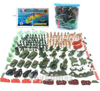 182 pcs Military Playset Plastic Toy Soldier Army Men 5cm Figures & Accessories