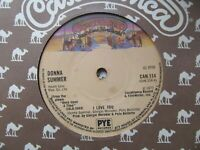 """DONNA SUMMER I Love You/Once Upon A Time UK 7"""" Single EX Cond"""