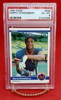 Darryl Strawberry ROOKIE Card 1984 Fleer  #599 PSA 5 New York Mets Certified