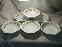 SET 6 VINTAGE JOHNSON BROTHERS IRONSTONE HERITAGE SOUP/CEREAL BOWLS POSY FLOWER
