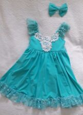 Girl Dance dress small child  turquoise color size 6 very good condition