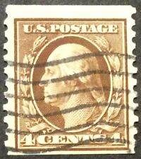 1914 4c Washington regular issue, Scott #446, Used, Fine