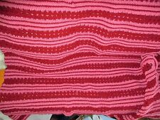 Pink and Burgundy Mile-A-Minute Afghan
