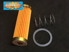 Quadrajet long fuel filter with spring and gasket, 72-89. Quadrajet Power