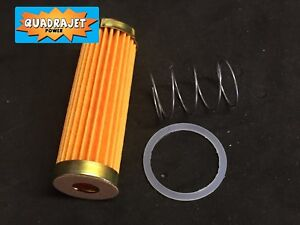 Quadrajet Long Fuel Filter With Check Valve Spring and Gasket NEW 1972 to 1989.