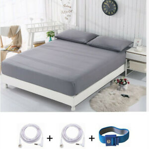 Earthing California King Fitted Sheets Silver Fiber EMF Protection Better Sleep