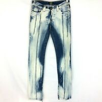Versace Jeans Couture Size 24/38 Womens Low Rise Denim  Distressed Acid Wash