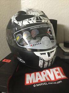 HJC Marvel Unisex CL-17 Punisher Motorcycle Helmet Large MC-5SF