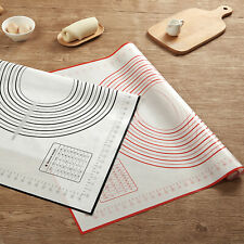Non-Stick Silicone Baking Mat Extra Large Dough Rolling Pastry Mats Black | Red