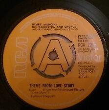 Henry Mancini & His Orchestra - Theme From Love Story  - RCA 2056 DEMO 1971