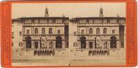 Florence Firenze Italia Foto Stereo Vintage Albumina Ca 1875