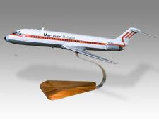 McDonnell Douglas DC-9 Martinair Solid Dry Wood Handmade Airplane Desktop Model