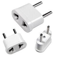 Travel Charger Wall AC Power Plug Adapter Converter US USA to EU Europe 2PCS