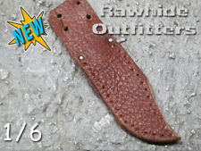 1/6 Brown Genuine Leather Bowie Knife Sheath Short Blade