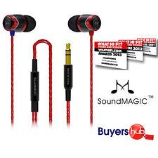 SoundMAGIC E10 Award Winning In-Ear Earphones - Black & RED Noise Isolating
