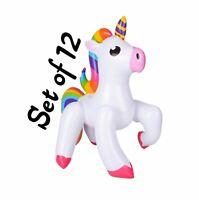 Inflatable Unicorn White 53cm Unicorn Stick 110cm Blow Up Toy Stocking Party