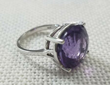 14k White Gold EFFY BH Amethyst Cocktail Ring 6.7g Size 6.75