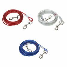 Pet Tie-out Leash Heavy Duty Steel Wire Metal Chain Dog Lead Line