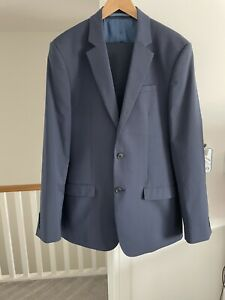 River Island mens Tailored navy Suit 40L 34L