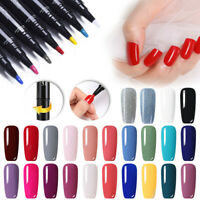 LEMOOC 5ml Nagel Gellack Soak off Nail UV Gel Polish Nail Art No Wipe Top Coat