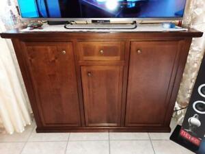 Cupboard With 3 Doors CMS 120x40x88H (391) Walnut Dark
