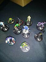 Heroclix 10 piece lot DC Comics Heroclix Figures