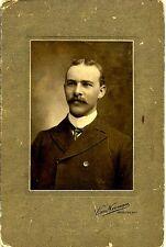 Vintage Cabinet Photo Handsome Man with Moustache Hamilton Ontario