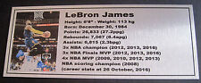 Basketball LeBron James Gold or Silver Plaque Career 200x80mm