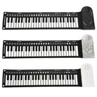Portable 49 Keys Flexible Roll-Up Piano Electronic Keyboard Hand Roll Soft Gift