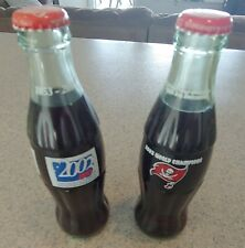 Two collectible Coca Cola mini-bottles 2002 Buccaneers & 2003 UF Gators Unopened