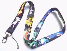 LEGENDARY POKEMON LANYARD black neck strap ID badge clip go mew mewtwo zapdos Z1