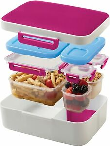 Rubbermaid LunchBlox Leak-Proof Meal Kit Container Kit with Case Red