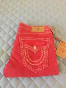 True Religion Jeans STRAIGHT FLAP NATURALINE MEGA T Size 36 MSRP $349