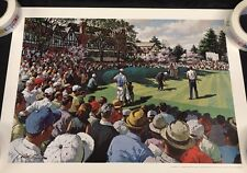 Vtg Arthur Sarnoff Print of Greater Greensboro Open Golf Tournament Rare 1970s