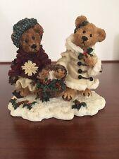 Boyds Bears, Edmund & Bailey...Gathering Holly, NIB